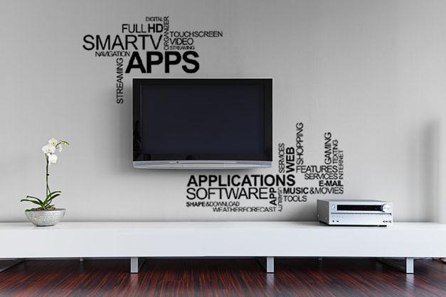 TV drawing - dekorace na stěnu