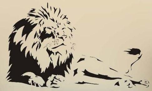 Lev - dekorace na stěnu