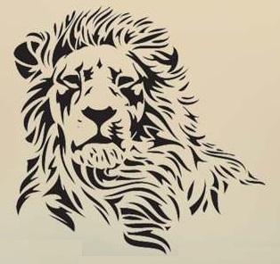 Hlava lva - dekorace na stěnu