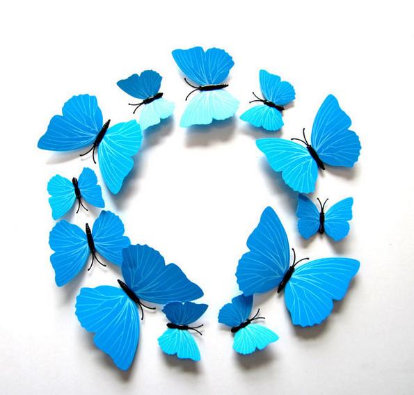 Dekorace na zeď motýli blue
