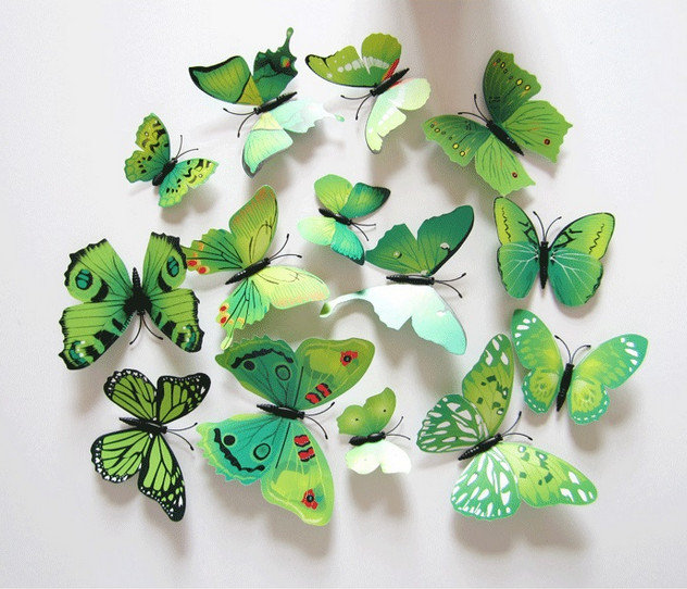 Dekorace na zeď motýli zelení