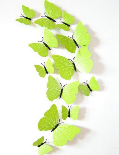 Dekorace na zeď motýli Lemon