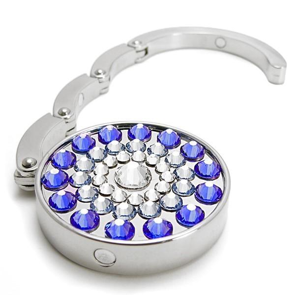Háček na kabelku s kameny Swarovski SUN BLUE 787105