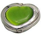 Háček na kabelku - zelené srdce