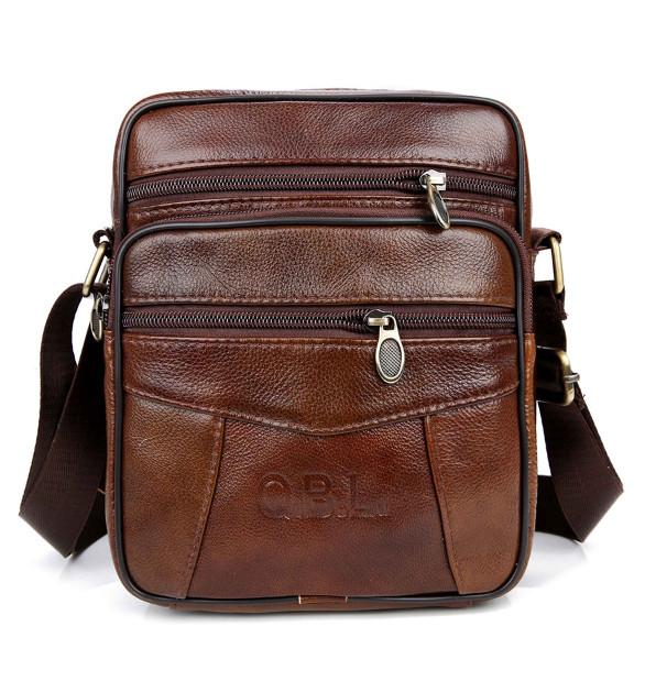 Kožená taška přes rameno QBL19