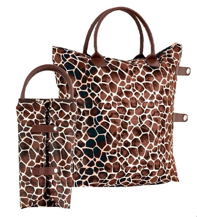 Skládací taška Ambassador Giraffe hnědá