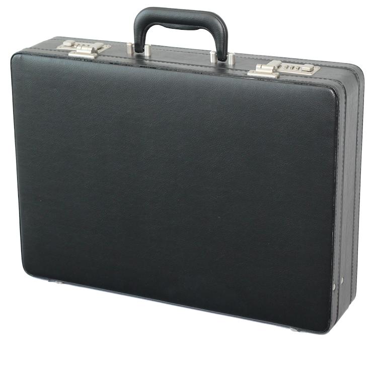 Koženkový pracovní kufr atache 2633 01 černý, d & n
