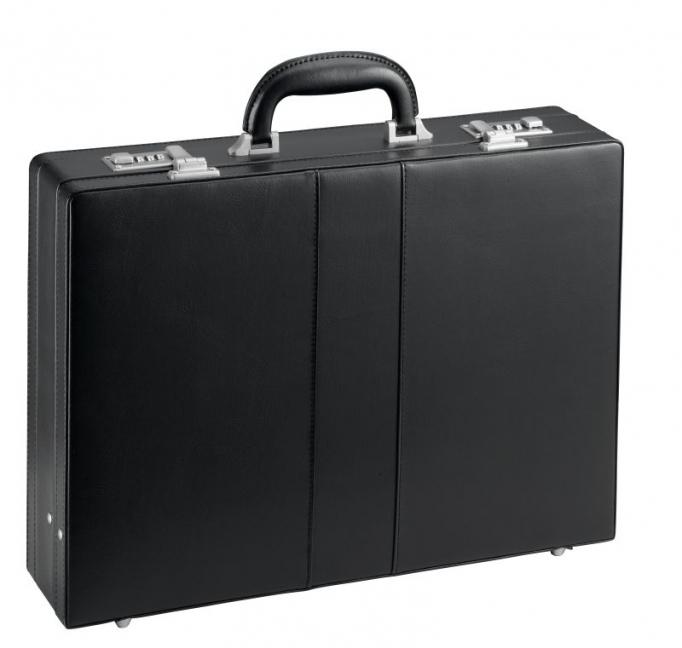 Koženkový pracovní kufr 2621-01 černý, d & n