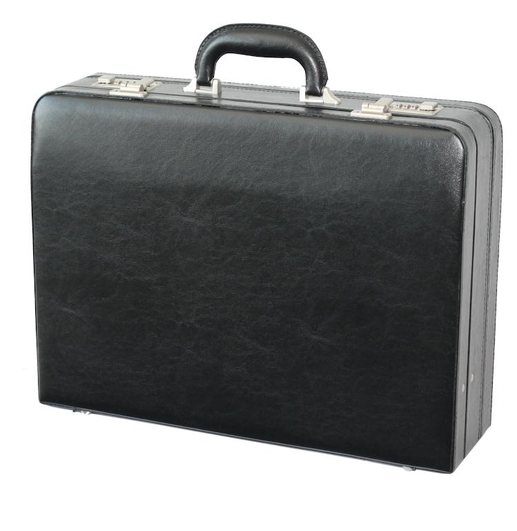 Koženkový pracovní kufr atache 2626 01 černý, d & n