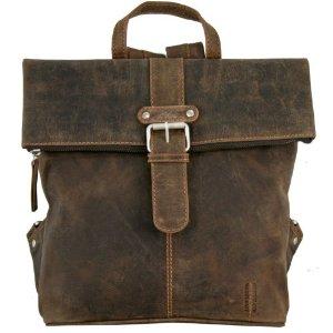 Kožený batoh GreenLand 819-25 - hnědý