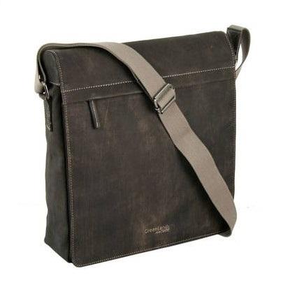Klopová kožená taška přes rameno GreenLand Handbrush