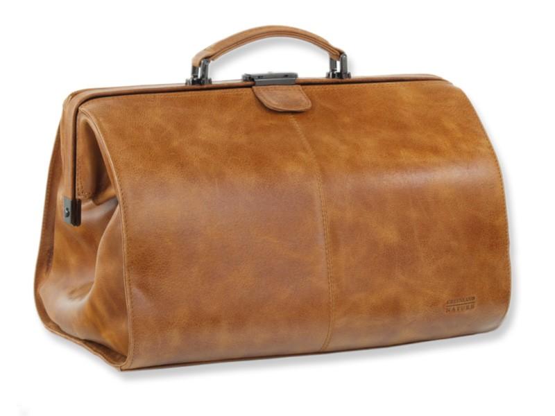 Kožená cestovní taška GreenLand 1305-24 sv.hnědá