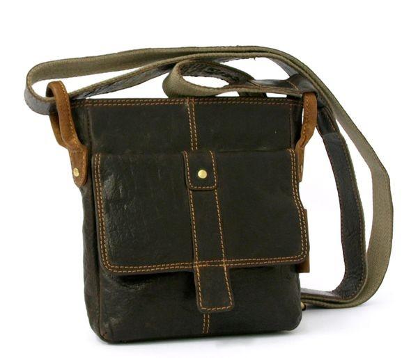 Pánská kožená taška přes rameno GreenLand 2213-24 hnědá