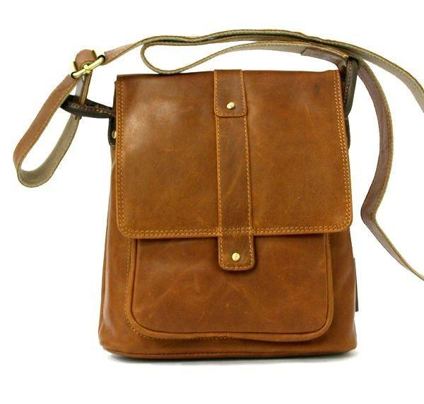 Pánská kožená taška přes rameno GreenLand 2211-24-sv.hnědá