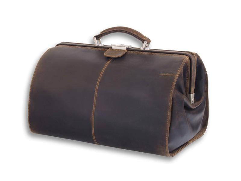 Kožená elegantní cestovní taška GreenLand 801-25-tm.hnědá