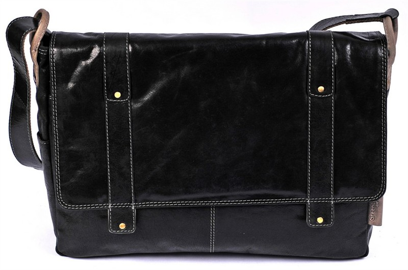 Kožená pánská taška uzavíratelná na dva magnety GreenLand 2202-20-černá
