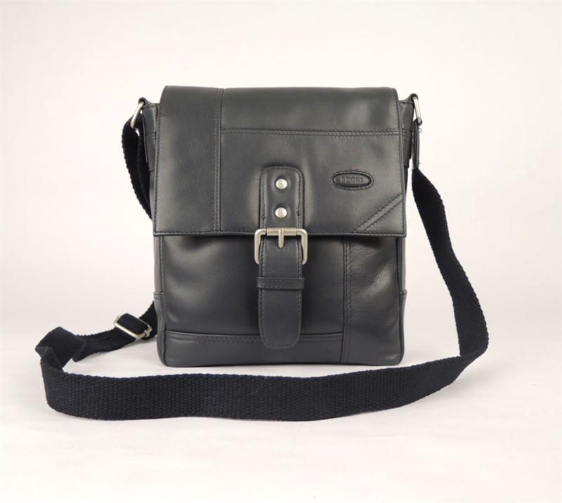 Pánská kožená taška přes rameno Tony Perotti - navy blue