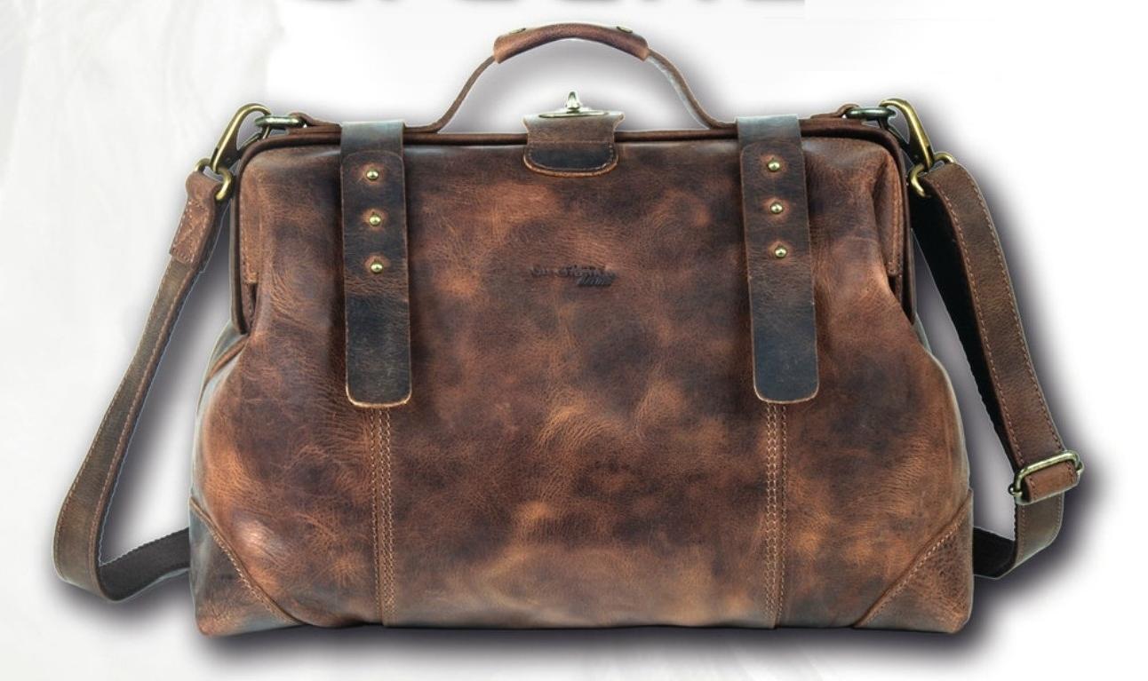 Kožená cestovní taška GreenLand Classic 2511