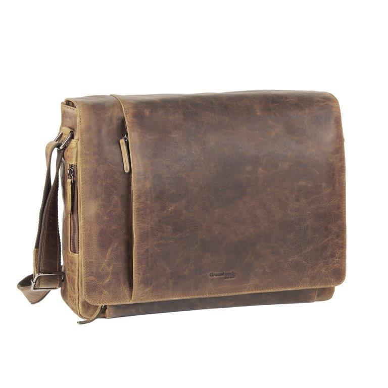 Kožená taška na rameno GreenLand MONTANA 110-25