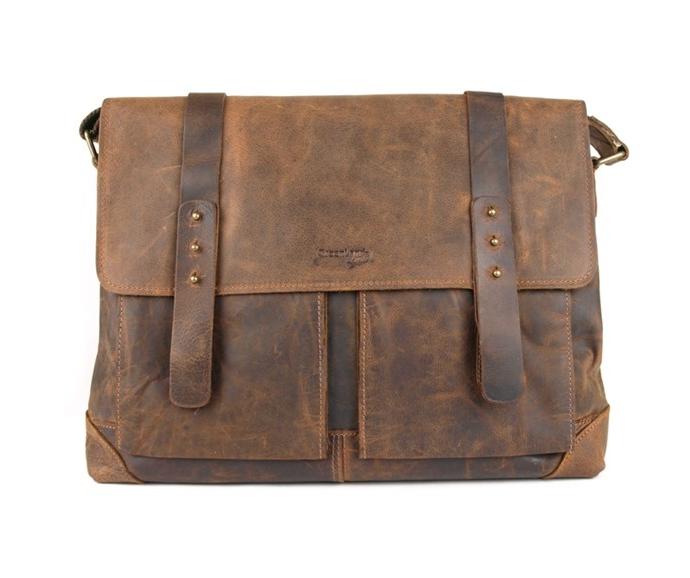 GreenLand Kožená taška přes rameno GreenLand 2506, hnědá