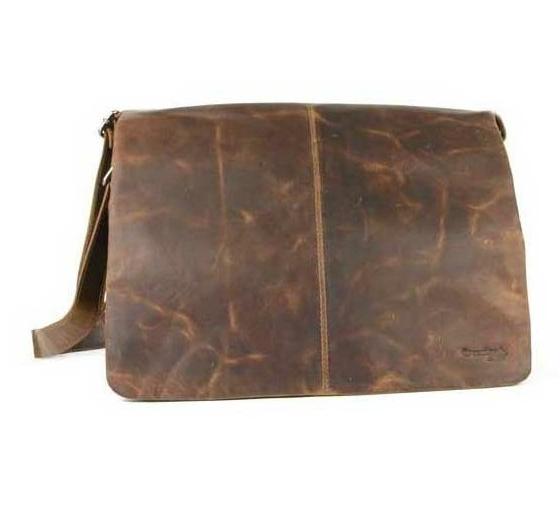 Kožená taška přes rameno GreenLand 113, hnědá