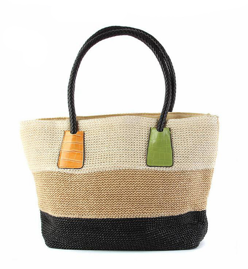 Plážová taška Miranda béžovo-černá
