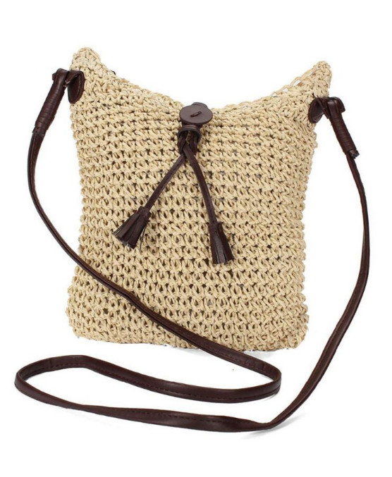Plážová taška Miranda Straw béžová