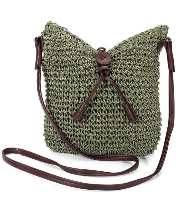 Plážová taška Miranda Straw zelená