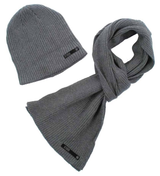 Šála a čepice Storm Templeton - Scarf & Beanie Hat Set / Grey