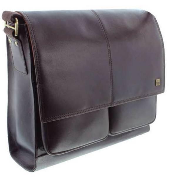 Kožená klopová taška Storm Islington hnědá