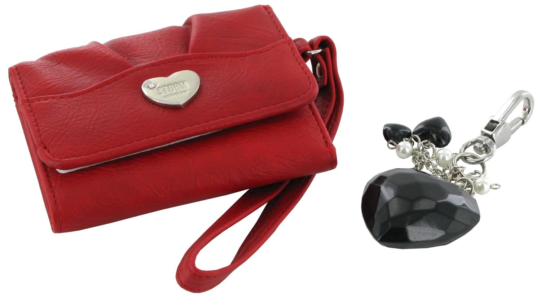 Dámská peněženka a klíčenka Storm Alexia - Heart Keyring Charm - Red/Black
