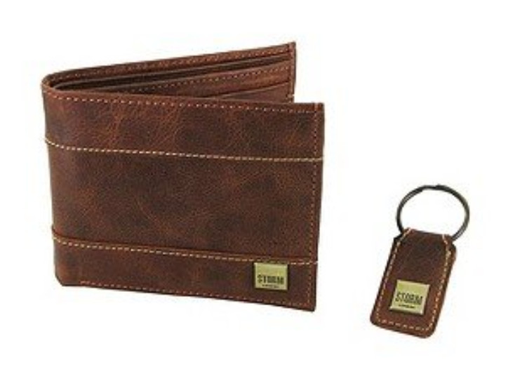 Peněženka a klíčenka Storm Hyde - Leather Wallet & Keyring Set / Tan