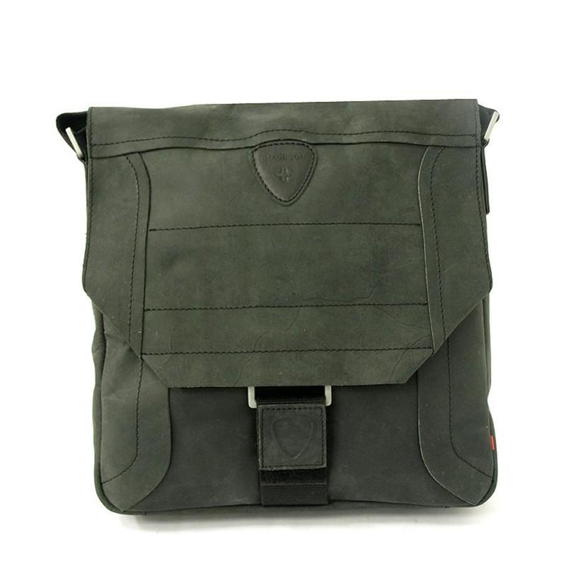 Pánská kožená taška přes rameno Strellson 2-92-14118 černá