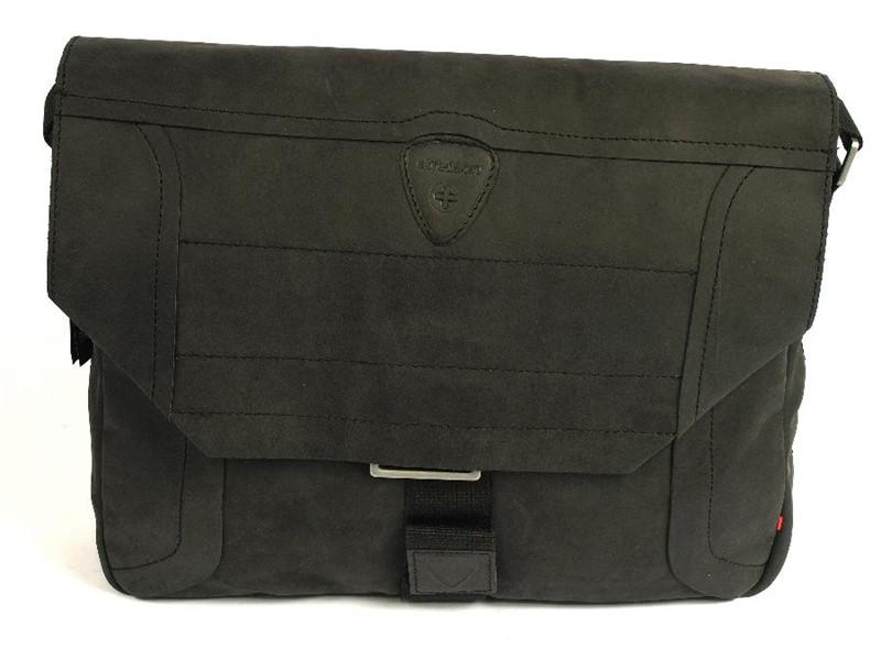 Pánská kožená taška přes rameno Strellson 2-92-14119 černá