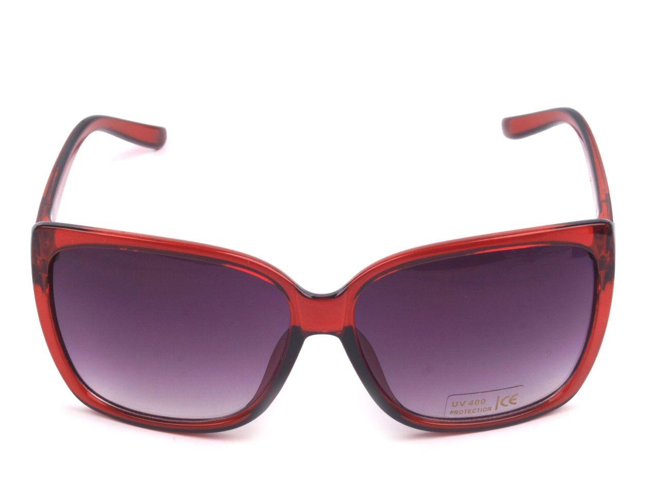 Sluneční brýle dámské 080524 tmavě červená