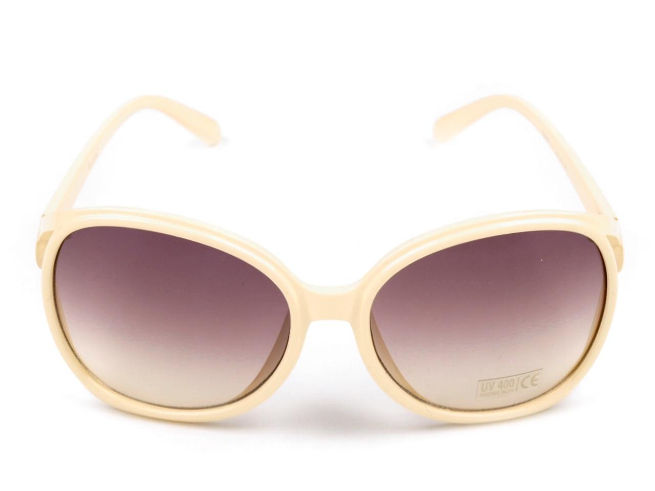Sluneční brýle dámské 080778 krémová