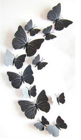 Dekorace na zeď motýli black and wihte