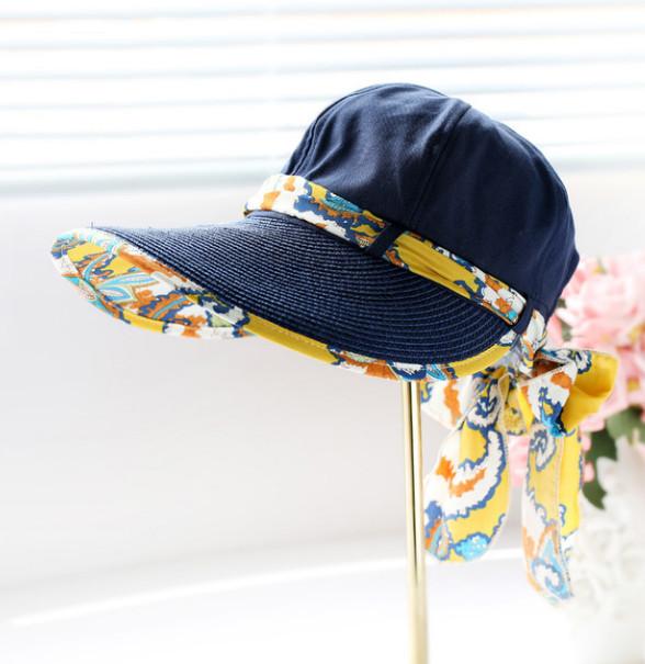 Letní klobouk Miranda se stuhou modrý