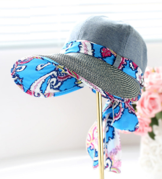 Letní klobouk Miranda se stuhou šedý