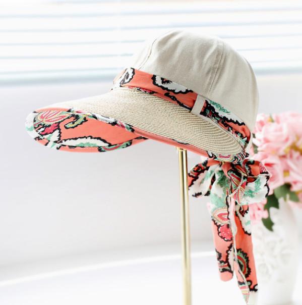 Letní klobouk Miranda se stuhou krémový