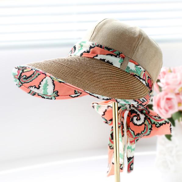 Letní klobouk Miranda se stuhou hnědý