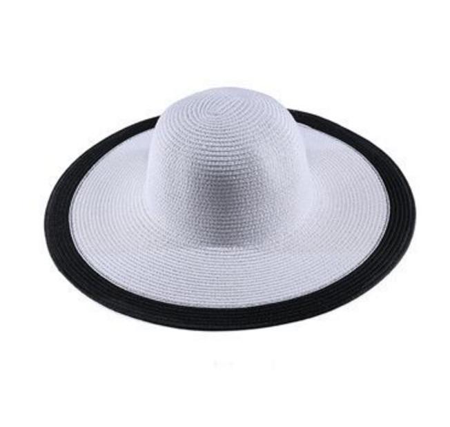 Dámský klobouk Miranda bílý s černým lemem