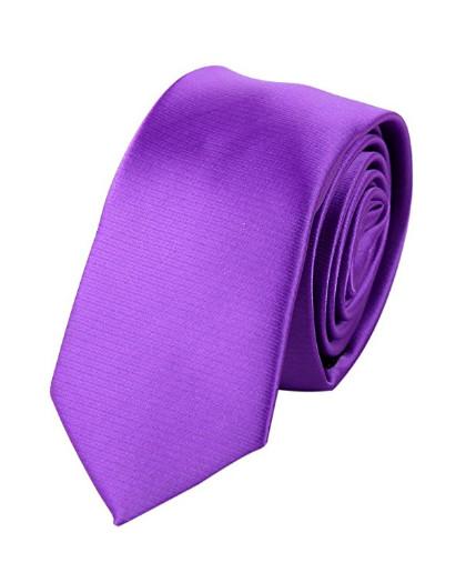Fialová kravata jednobarevná