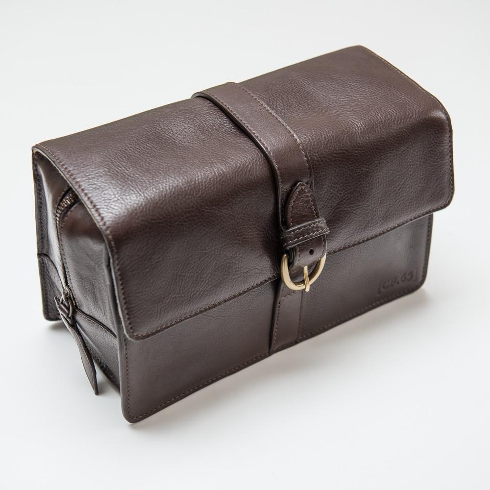 Captain Fawcett kožená toaletní taška