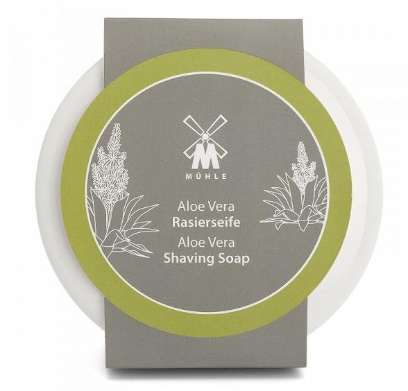 Mühle Aloe Vera mýdlo na holení v porcelánové misce