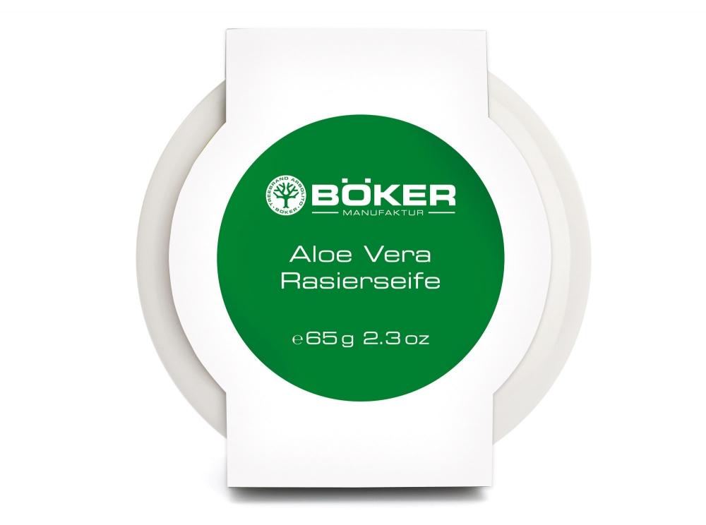 Böker Aloe Vera mýdlo na holení v porcelánové misce