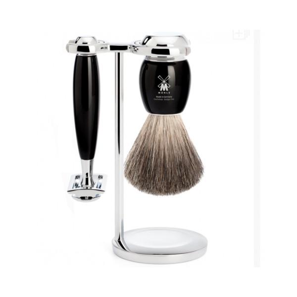 Mühle Vivo Black Pure Badger 3-dílná