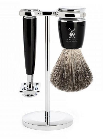 Mühle Rytmo Black Pure Badger 3-dílná