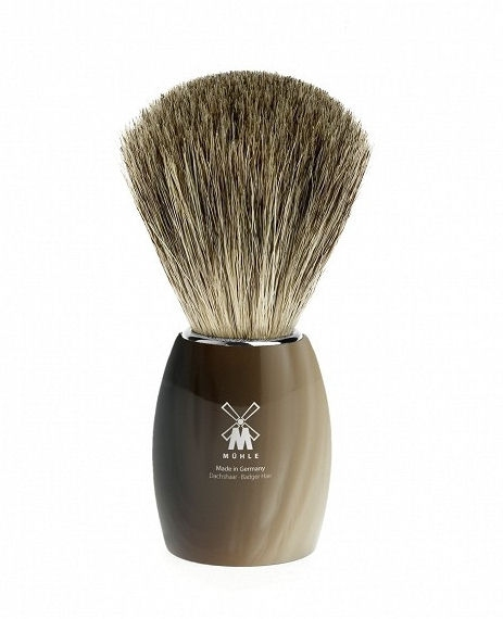Mühle Basic Horn Brown Pure Badger štětka na holení