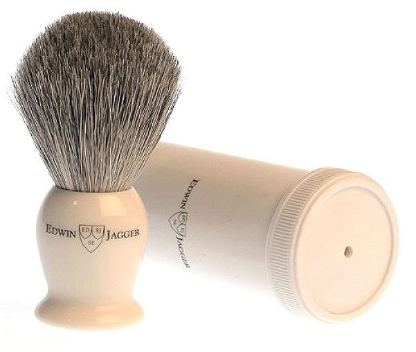 Edwin Jagger Ivory Best Badger, cestovní štětka na holení